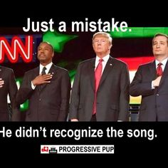 Unpatriotic Trump... Doesn't know song or what to do!!??