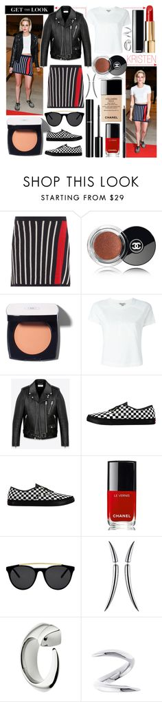 """""""KRISTEN STEWART"""" by riverinthedesert ❤ liked on Polyvore featuring GALA, Chanel, Barrie, Calvin Klein Jeans, Yves Saint Laurent, Vans, Smoke x Mirrors and Shaun Leane"""