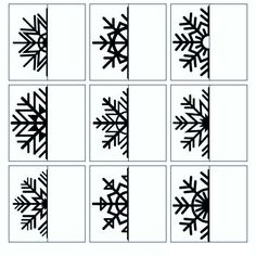 Snowflake Matching Cards Printable: Winter Visual Discrimination Skills for Pre-K, Preschool Christmas Activities For Kids, Winter Activities, Stem Activities, 3rd Grade Art, Preschool Writing, Art Worksheets, Bullet Journal Ideas Pages, Winter Art, Art Classroom