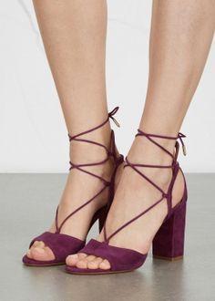 Austin plum suede sandals