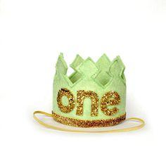 First Birthday Crown Boy Crown Headband LARGE - One Year Old Birthday Headband