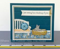 2016-2018 Stampin' Up In Color: Dapper Denim and Sitting here stamp set