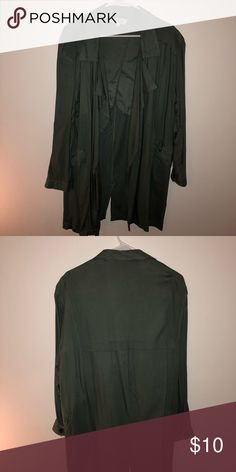 Green cardigan Beautiful green cardigan! Purchased last year! Great condition. Charlotte Russe Tops