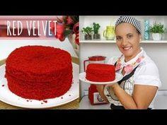 Red Velvet Macaroons, Bolo Red Velvet Receita, Bolos Naked Cake, Red Valvet, Red Cake, Cake Boss, Pavlova, Creative Cakes, Cake Recipes