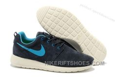 f00e7096265e Hot Sale Nike Roshe Mens Running Shoes Wool Skin Online Blue White Cheap