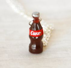 Coke drink bottle necklace by Zoozim on Etsy, $10.50