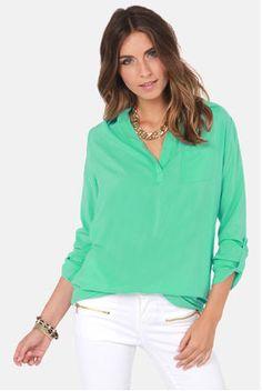 $18 for Cute Mint Green Tunic Top - Mini Dress - Free Shipping. on DealsAlbum.com