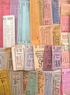 Ticket addicted vintage tickets over 60 tickets door thriftypyg Textures Patterns, Color Patterns, Just Love, Vintage Logo, D House, Typography, Lettering, Color Stories, Color Theory