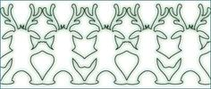Printable Christmas Chain Templates (reindeer, snowman, tree, angel) - cute! Great decorations...