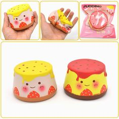 Areedy Squishy Pudding 10cm Slow Rising Original Packaging Collection Gift Decor Toy Hello Kitty Characters, Cute Squishies, Cute Stationary, Cute Polymer Clay, Toys Online, Fidget Toys, Unicorn Party, Cute Food, Clay Creations