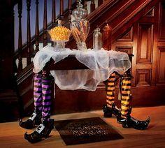 decoración de mesa para halloween