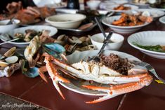 There are a ton of different ways to prepare and eat seafood in Thailand. But one of the most popular and purest ways, and it's simple too, is to just boil or grill up a mess of fresh seafood, and. Side Recipes, Thai Recipes, Seafood Recipes, Thai Sauce, Fish Sauce, Garlic Dipping Sauces, Seafood Party, Mango Sauce, Crab Boil