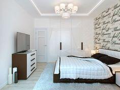 Спальня / Интерьер таунхауса в стиле минимализм