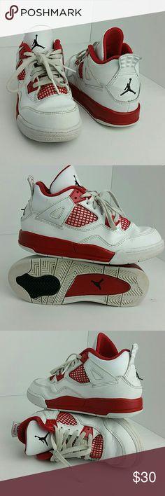 AIR JORDAN RETRO 4 IV KIDS SHOES VERY CLEAN INSIDE-OUT   TODDLER SIZE 13C   SKE # TUB Air Jordan Shoes Sneakers