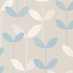"""Elements Ernst Linear Leaf 33' x 20.5"""" Floral 3D Embossed Wallpaper"""