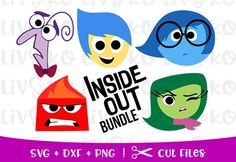 Joy Inside Out, Disney Inside Out, Deadpool Animated, Inside Out Characters, Disney Silhouettes, Disney Princess Art, Trunk Or Treat, Silhouette Studio Designer Edition, Silhouette Files