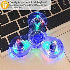 Mode LED Licht Fidget Hand Spinner Torqbar Finger Spielzeug EDC Focus Gyro Fast Versand (Transparent 2) - Fidget spinner (*Partner-Link)