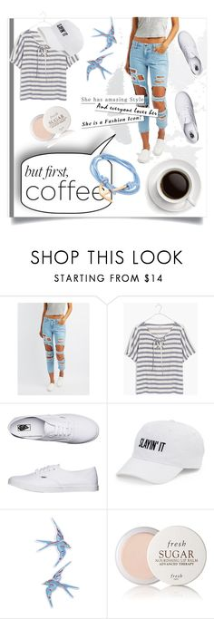 """""""Caffeine Fix: Coffee Break"""" by kari-c ❤ liked on Polyvore featuring Cello, Madewell, Vans, SO, Topshop, Fresh, MIANSAI and coffeebreak"""