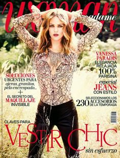 magazine-photoshoot : Vanessa Paradis Woman Spain Magazine cover February 2014 HQ Scans