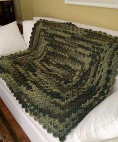 Manly Man Throw Easy Crochet Patterns Crochet Afghan