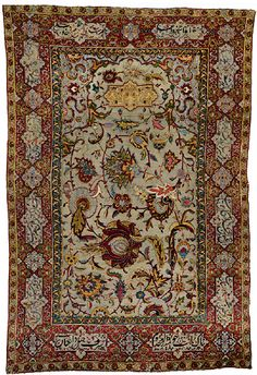 16th Century Safavid Carpet Silk & Metallic Threading Second Most Expensive Rug Ever Sold #metallic silk carpet #art