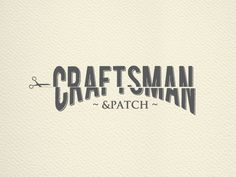 Newly completed logo for Craftsman & Patch, Tailors. #logodesign #tailors