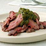 Pan-Grilled Flank Steak with Chermoula Recipe | MyRecipes.com