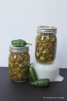 Canning Pickled Jalapeno Peppers ~ * THE COUNTRY CHIC COTTAGE (DIY, Home Decor, Crafts, Farmhouse)
