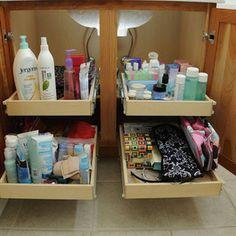 Bathroom Pull Out Shelves - contemporary - bathroom storage - chicago - ShelfGenie of Chicago