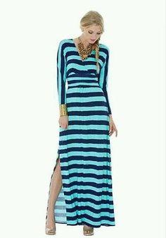 NWT Lilly Pulitzer riana maxi dress crystal water take of stripes dress xs Rayon