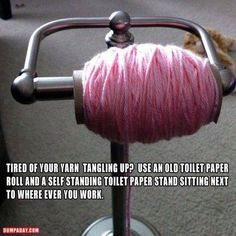 Yarn holder idea