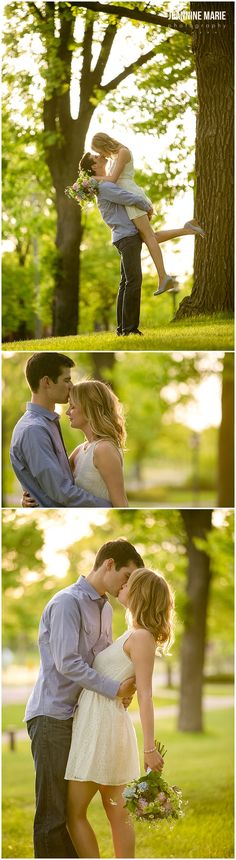 Minnehaha Falls engagement session photographed by Minnesota wedding…