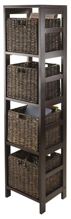 Granville Storage Tower With 4 Foldable Baskets