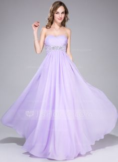 Prom Dresses - $136.99 - Empire Sweetheart Floor-Length Chiffon Prom Dress With Ruffle Beading Sequins (018042714) http://jjshouse.com/Empire-Sweetheart-Floor-Length-Chiffon-Prom-Dress-With-Ruffle-Beading-Sequins-018042714-g42714