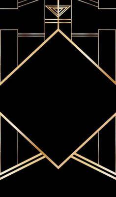 Super Ideas For Wallpaper Art Deco Gold Wallpaper Art Deco, Gold Wallpaper Bathroom, Trendy Wallpaper, Bathroom Art, Iphone Wallpaper, Gold And Black Wallpaper, Motif Art Deco, Art Deco Design, Design 24