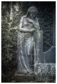 On the cemetery in Hamburg, Germany