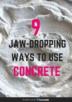 Think concrete decor sounds hideous? Wait till you see these 9 amazing ideas Think concrete decor sounds hideous? Wait till you see these 9 amazing ideas Cement Art, Concrete Crafts, Concrete Projects, Diy Projects, Cement Statues, Diy Concrete Planters, Concrete Cement, Concrete Leaves, Concrete Casting