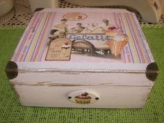 decoupage box ice-cream