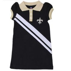 New Orleans Saints Infant Girls 3-Piece Ruffle Creeper Set - White ...