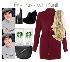 """""""First Kiss with Niall"""" by nialleratheart on Polyvore featuring Cameo Rose, NARS Cosmetics, Forever Link and Topshop"""