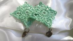 green mint Handmade Jewelry unique gift  by ViktoriaCrochet