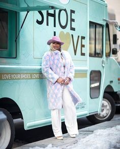 I'm here at the #Amope #ShoeLove Fashion Truck at 360 West 33rd street between 8th and 9th avenues talking about how the new GelActiv Insoles & Inserts make my favorite shoes more comfortable so I can wear them all day (ideal for running to all these fashion shows)! Can't make it, but want to give these bad boys a try? Use the promo code 20AMOPENYC on Amazon.com for 20% off! #partner Image: @clairesulmers by @marta_mcadams wearing @blood.honey