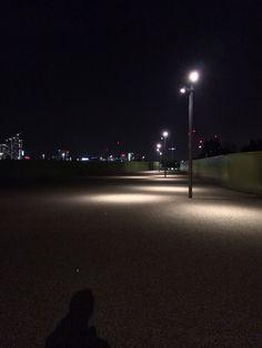 Empty gravel path next to Olympic park