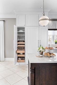 Jane Lockhart Interior Design Traditional French Bistro Kitchen. Custom made cabinetry.