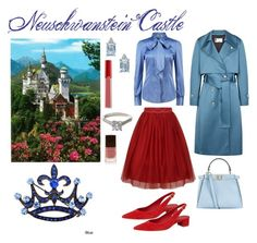 """princess castle"" by moestesoh ❤ liked on Polyvore featuring Lanvin, Mansur Gavriel, Fendi, James Allen and Armani Beauty"
