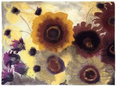 Sunflowers, by Emil Nolde