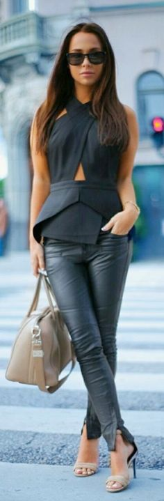 Luv to Look | Curating Fashion & Style: Women's fashion | Edgy black leather