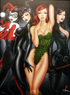Sexy Harley Quinn poison ivy cat women ra as ghouls daughter