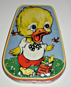 Vintage Horner Candy Tin Duck Learning to Fly by paintedpony99