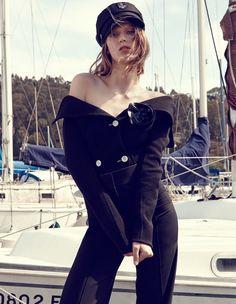 Marie Claire Italy September 2014   Tess Hellfeurer by Nagi Sakai  #fashioneditorials #nautical #TessHellfeurer